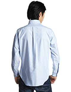 Standard Fit Cambridge Oxford Buttondown Shirt: E16BOO Blue