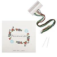 Fityle クロスステッチ 刺繍 糸&針付き 刺繍キット 初心者 花 贈り物 全4色 - 2