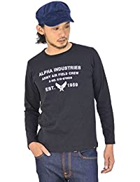 (アルファ インダストリーズ) ALPHA INDUSTRIES STENCIL 長袖Tシャツ プリント tc1128-f