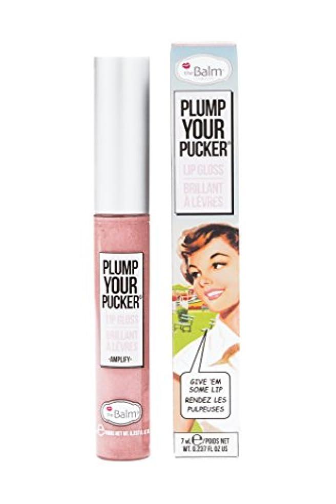磨かれた浪費両方ザバーム Plum Your Pucker Lip Gloss - # Amplify 7ml/0.237oz並行輸入品