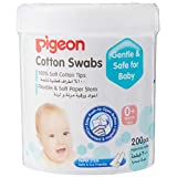 Pigeon Cotton Swabs, Hinged Case, 200ct (Packaging may vary)