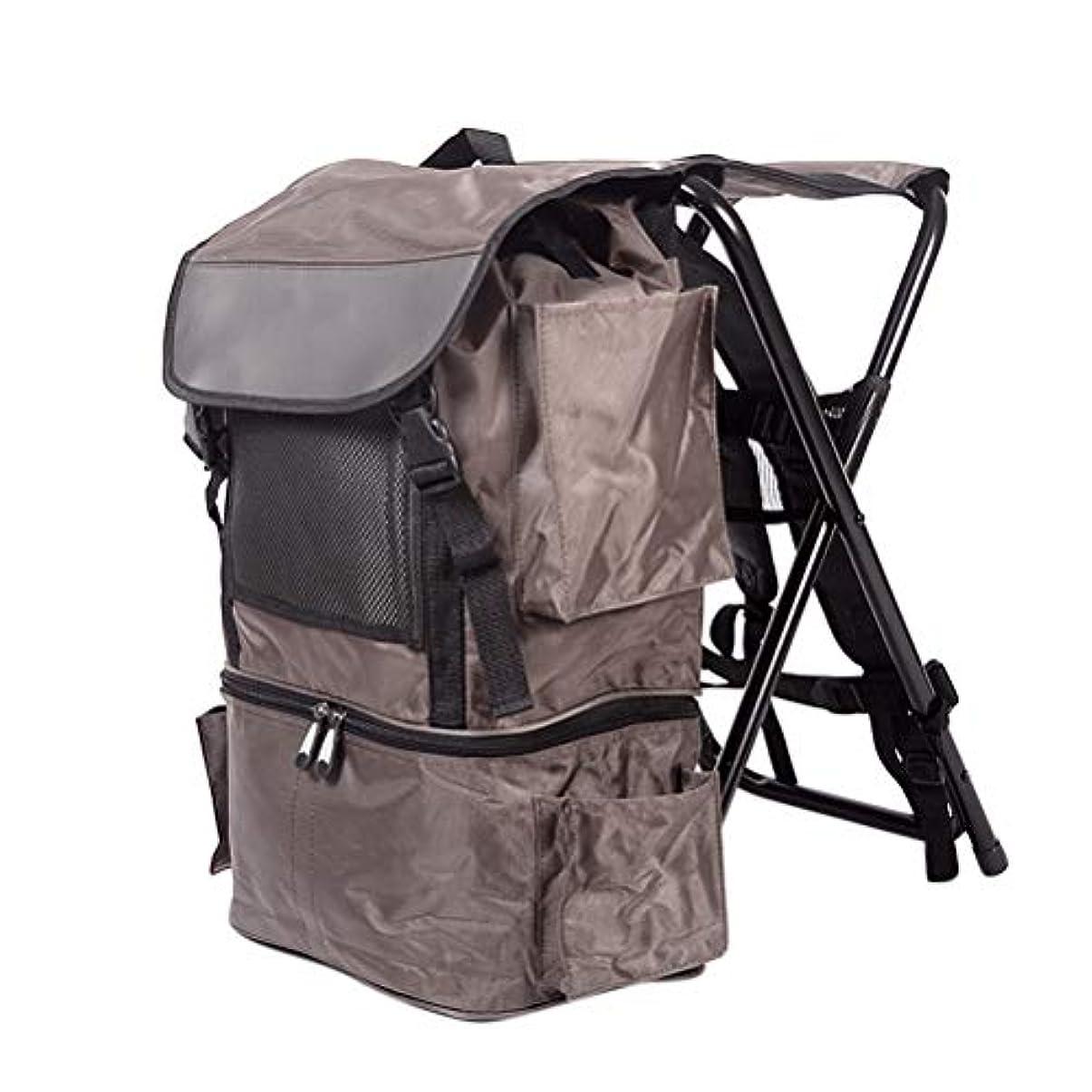 無条件肯定的足音折りたたみ式バックパックとスツールコンボパック、ポータブル2 in 1ピクニック/アウトドアアクティビティバックパック&スツールキャンプ/釣り用ハイキングバッグハイキングビーチ旅行