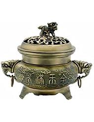 真鍮FU Temple犬Incense Burner