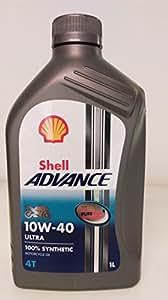Shell ADVANCE Ultra 4T シェル アドバンス ウルトラ 10W40 DUCATI純正推奨オイル 1L(並行輸入品) -