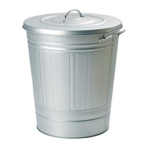 レトロ ふた付きゴミ箱 収納 分別ゴミ箱 資源ごみ ブリキ風 亜鉛メッキ バケツ型ペール シルバー 40L