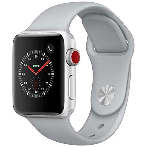 Apple Watch Series3 シルバーアルミニウムケースとフォッグスポーツバンド アップルウォッチ シリーズ3 本体 (42mm, GPS+セルラーモデル)