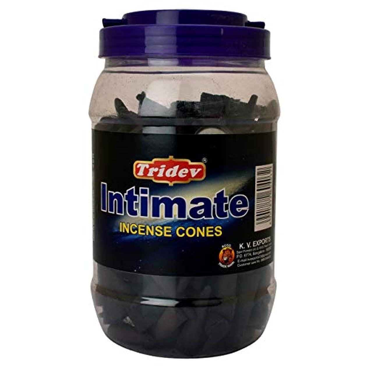 中間公演強いTridev Intimate Incense Cones Jar 500グラムパック
