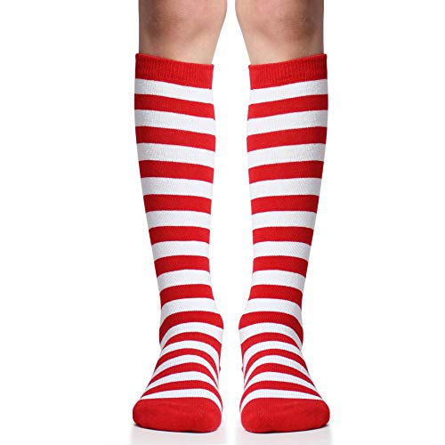 juDanzy Knee High Socks with Grips for Babies, Toddlers and Children (1 Pair) - Red - 2-4 Years