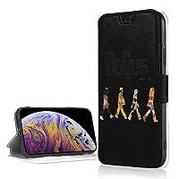 ビンテージ ザ・ビートルズ ロゴ Beatles IPhoneXRケース 手帳 IPhoneXRカバー IPhoneXR Case カード入れ スタンド機能 財布型 内蔵マグネット 高級PUレザー+TPU 保護 高耐久 オシャレ メンズ レディース