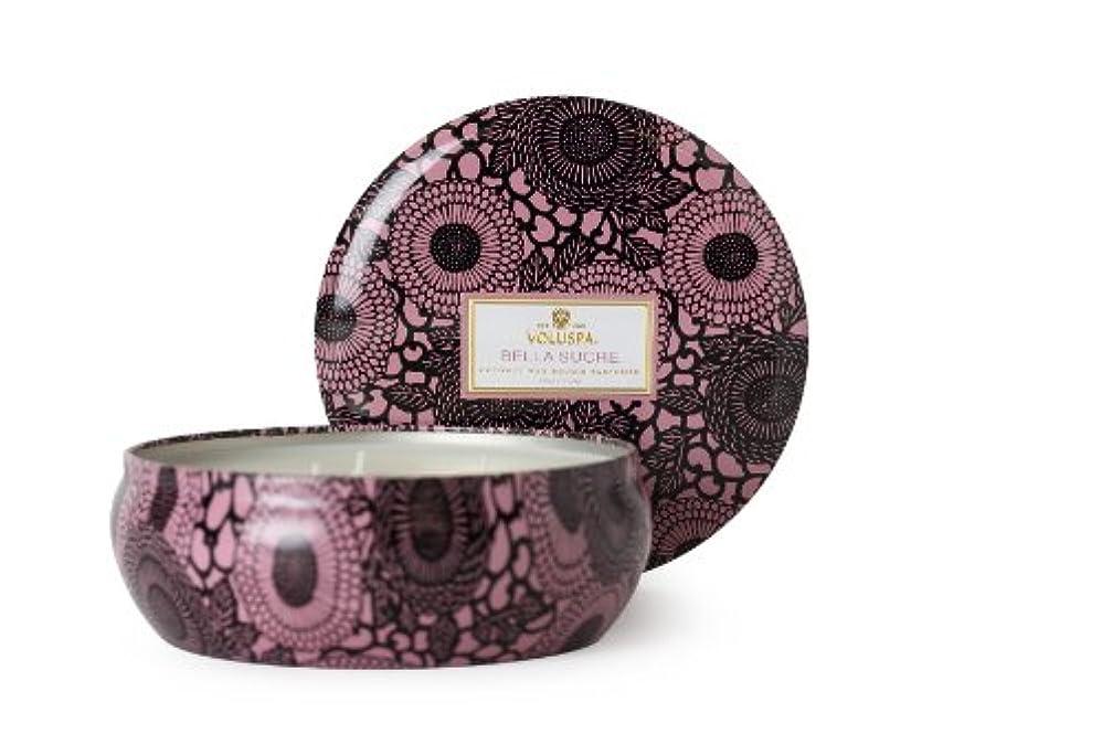 すべきトレード受けるVoluspa ボルスパ ジャポニカ 3-Wick ティンキャンドル L ベラ シュークレ JAPONICA Wick Tin Candle BELLA SUCRE