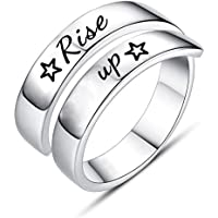 Jvvsci Rise up Spiral Wrap Twist Ring, Hamilton Musical Inspired Star Gift, Inspiration Motivation Jewelry,Theater Gift