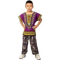 Lofbaz Unisex Child Traditional African Printed Dashiki