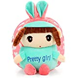 Swesy Kids Toddler Baby Girls Backpack Plush Toy Backpack Snack Bag Travel Bag 1-3 Years