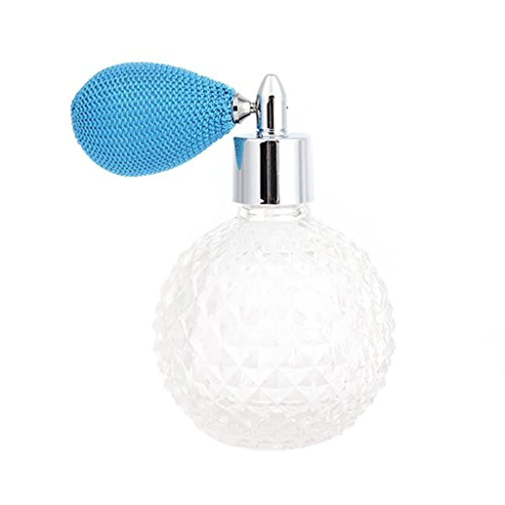 Dabixx 女性ヴィンテージ香水瓶ショートスプレーアトマイザー詰め替え空のグラス100ミリリットル - 青