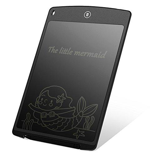 Hallomall 12インチ電子メモ 電子パッド 電子ペーパー LCDタブレット 薄型4mm 軽量 定規機能 子供プレゼント 難聴補佐/筆談ツール/お子様のお絵かきなどに対応