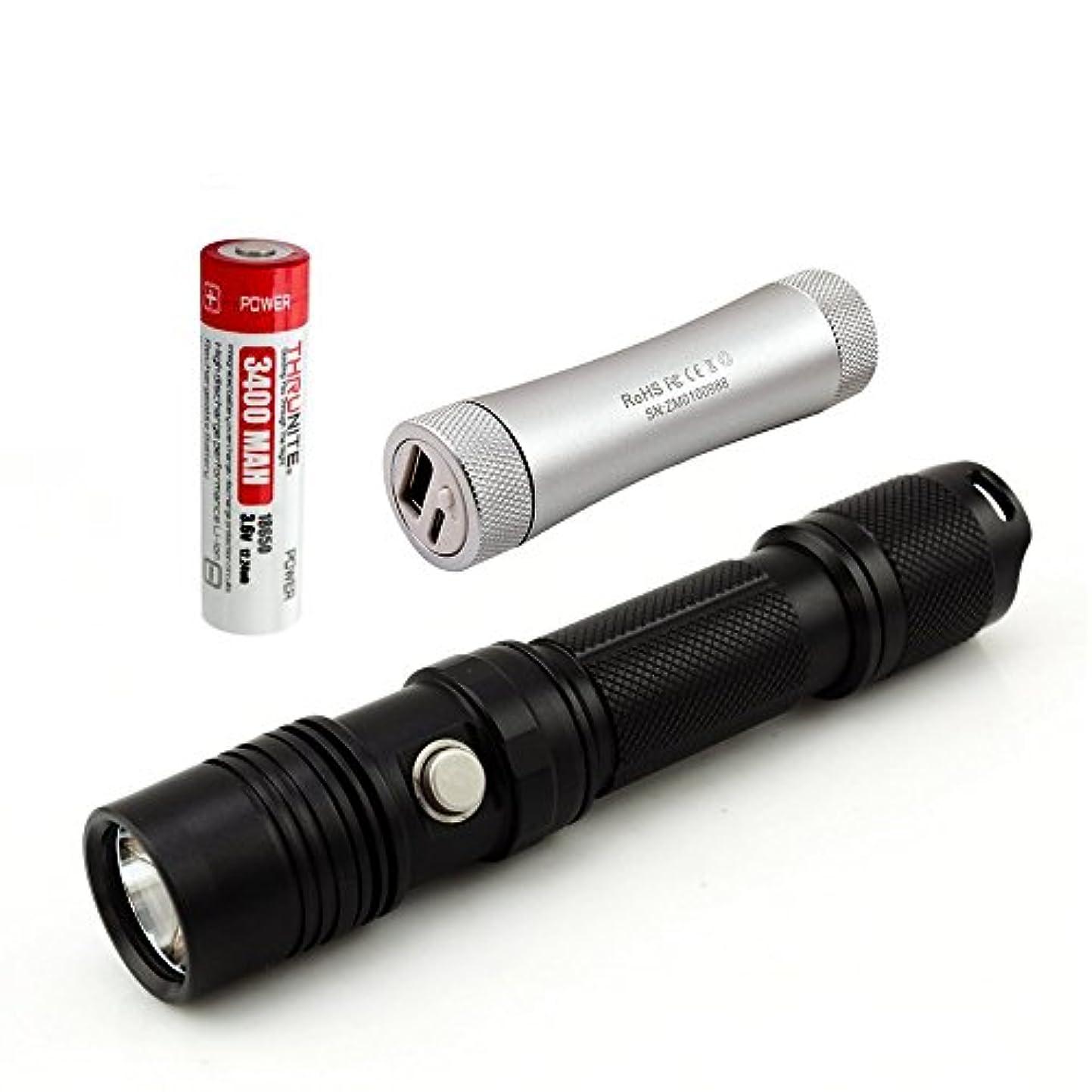 メロディアススポンサー海嶺スルーナイト ThruNite TN12 XP-L V6 LED フラッシュライト(電池含まず) Max1100 ルーメン 五段階切替 使用電池 CR123A電池×2 or 18650電池×1