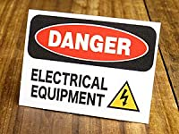 サイン&ラベルステッカー SIGNS & LABELS series 「危険、電気設備」_SC-MD017-SXW