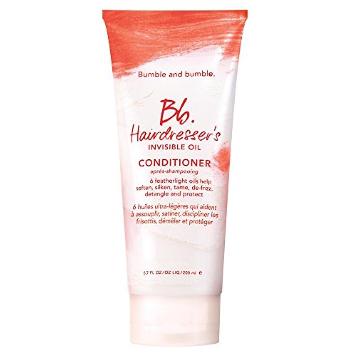 固体まだら電池バンブルアンドバンブル美容見えないオイルコンディショナー200ミリリットル (Bumble and bumble) (x6) - Bumble and bumble Hairdressers invisible oil...