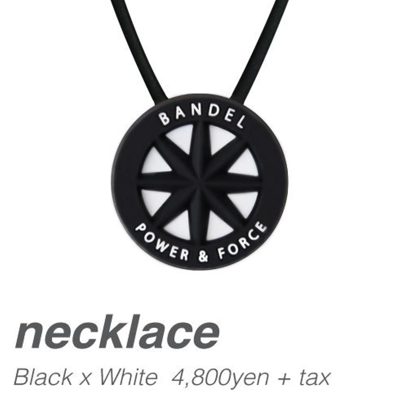 賞賛壊れたストレス[バンデル?BANDEL]スタンダードネックレス?BANDEL standard necklace(BlackxWhite?ブラック×ホワイト)50cm