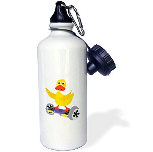 3drose All Smilesアートスポーツおよび趣味???Funny Yellow Duck onセグウェイ電動式スケートボード???21?ozスポーツウォーターボトル( WB _ 234514?_ 1?)