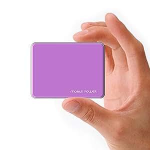 MAXOAK5200mAh超薄型モバイルバッテリー ボータブルUSB充電器APPLE IPHONE 6,6 PLUS ,IPHONE 5 S 5 C 5 4S 4 SAMSANG GALAXY S6 S5 S4 S3 NOTE 4 3 2 TAB PRO NEXUS他の携帯電話等に充電対応-パープル