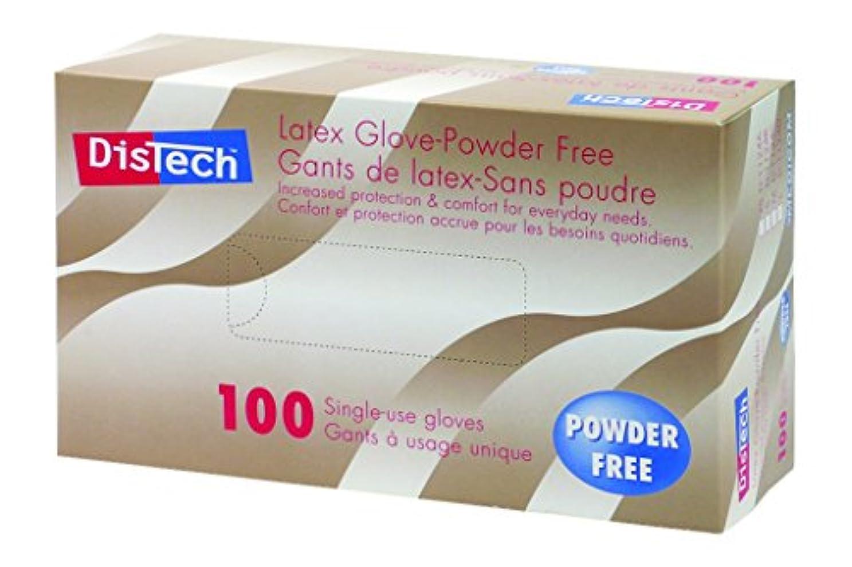 受け入れ褐色メッセージD-1124D-Eディステックラテックスグローブ 塩素処理PF L寸100枚/箱
