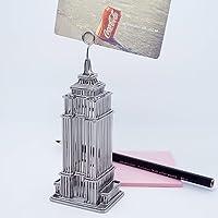 """5"""" Empire State BuildingメモクリップスチールワイヤモデルNew York City建築モデルレプリカ"""