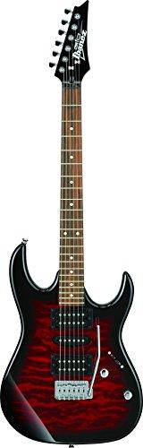 GIO Ibanez アクセサリーセット付き初心者向けエレキギターセット (トランスペアレント・レッド・バースト) GRX70QA-TRB
