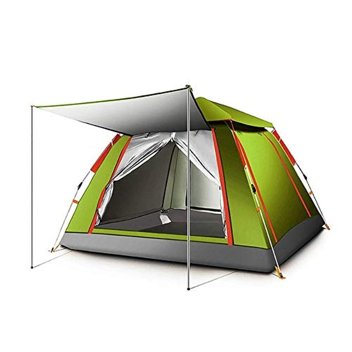 実り多い悪性の罰するキャンプテント 自動テント屋外3-4人登山キャンプ公園ピクニックテント昆虫制御防雨取り外し可能 サンシェード?シェルター (色 : C)