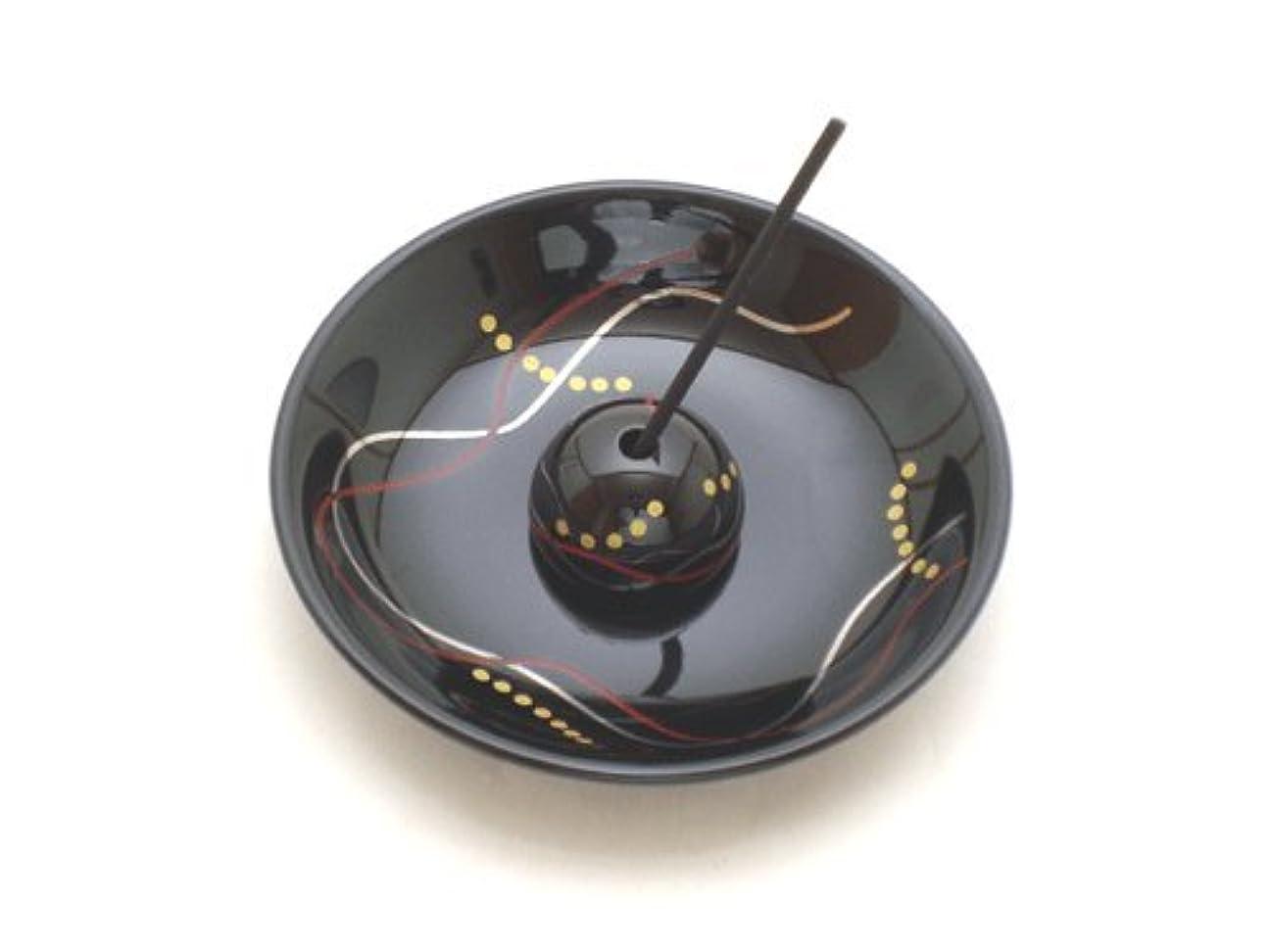 メーカー羽ゴム【香立て】 おしゃれな香皿 「華かんざし 漆黒」
