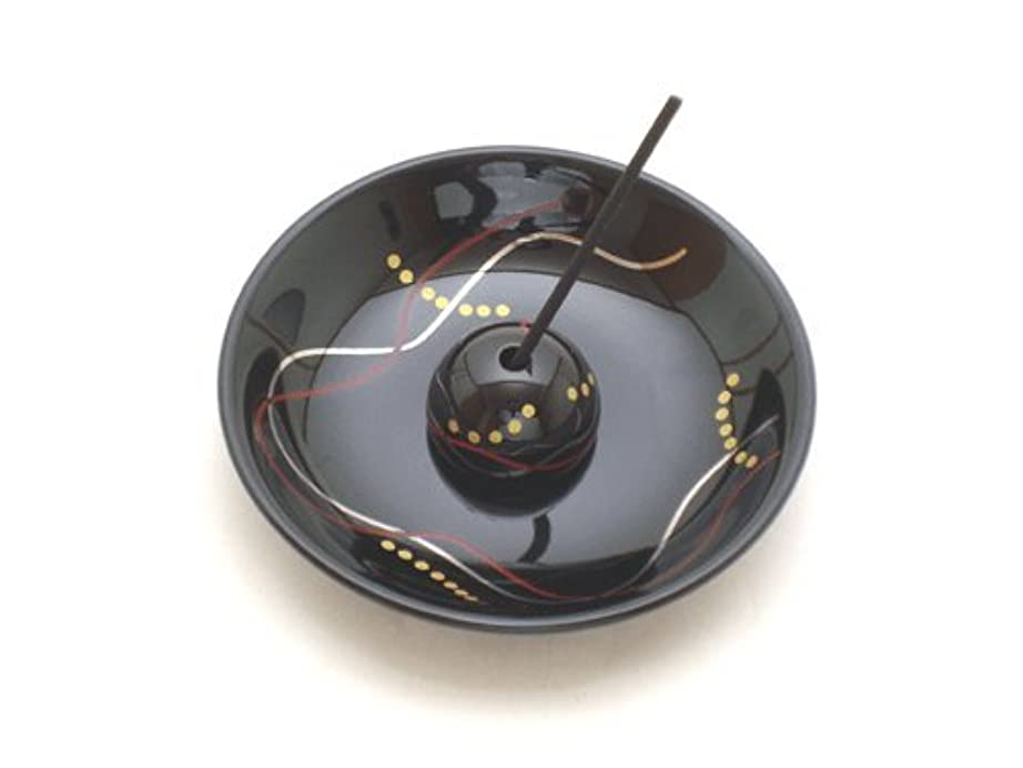 【香立て】 おしゃれな香皿 「華かんざし 漆黒」