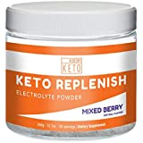Kiss My Keto Electrolyte Powder - 90 Servings, Mixed Berry Energy Supplement for Ketogenic Diet, Rapid Rehydration, Cramps, Recovery, Fatigue w/Himalayan Pink Salt, Calcium Potassium Magnesium Zinc
