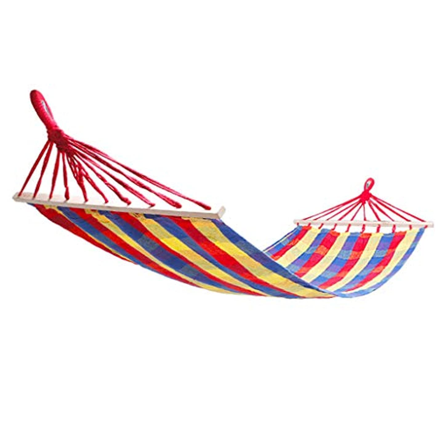 わずかなきらめく負屋外用木製ハンモック、スウィングキャンバスハンモック(幅広く厚く)、ロールオーバーしないで440ポンド - ビーチ、セルフドライブツアー、ピクニックバーベキュー、キャンプ、旅行