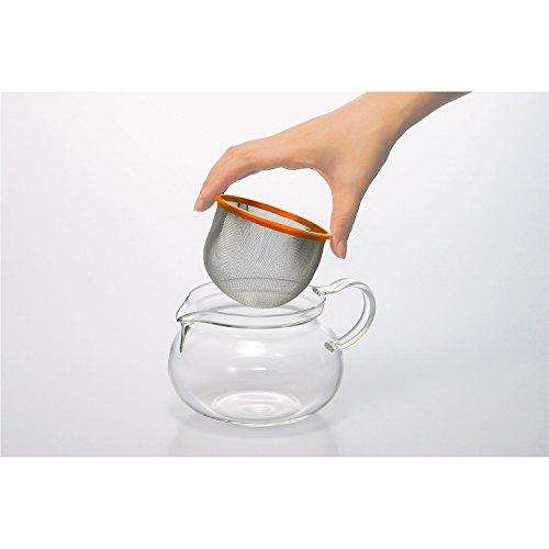 HARIO (ハリオ) 茶茶 急須 丸 450ml オレンジ CHJMN-45C-OR