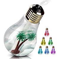 Beito 加湿器 卓上加湿器 USB 超音波式 大容量 400ml 加湿器 電球型 LED搭載7色変換 静か 花粉症 花粉対策に 乾燥防止 空焚き防止 オフィス用 会社 家庭用 (ゴールド)
