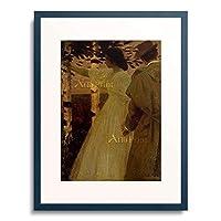 Herterich, Ludwig von,1856-1932 「Summer evening (or: farewell). About 1895.」 額装アート作品