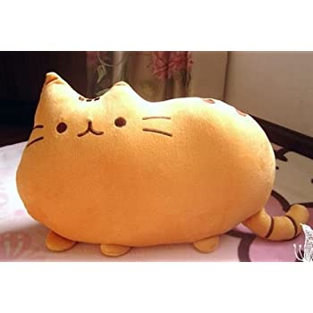 フワフワ 柔らか かわいい ネコ クッション 抱き枕 オフィス用にも オレンジ