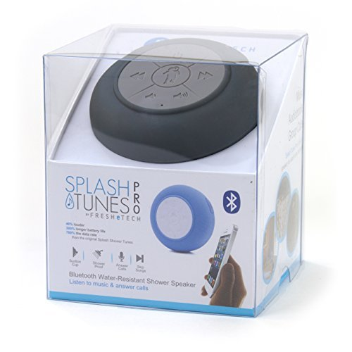 Splash Tunes Pro (Charcoal Grey) - The Perfect Bluetooth Shower Speaker by FRESHeTECH [並行輸入品]