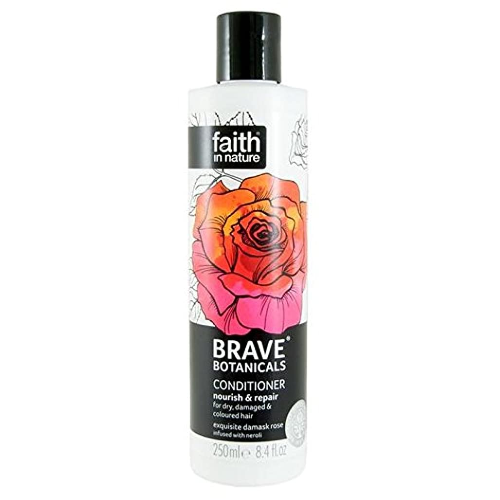 区画サスペンド経済Brave Botanicals Rose & Neroli Nourish & Repair Conditioner 250ml (Pack of 2) - (Faith In Nature) 勇敢な植物は、ローズ&ネロリ...