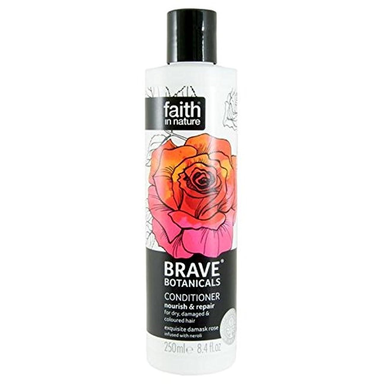 崩壊ステンレス副Brave Botanicals Rose & Neroli Nourish & Repair Conditioner 250ml (Pack of 4) - (Faith In Nature) 勇敢な植物は、ローズ&ネロリ...