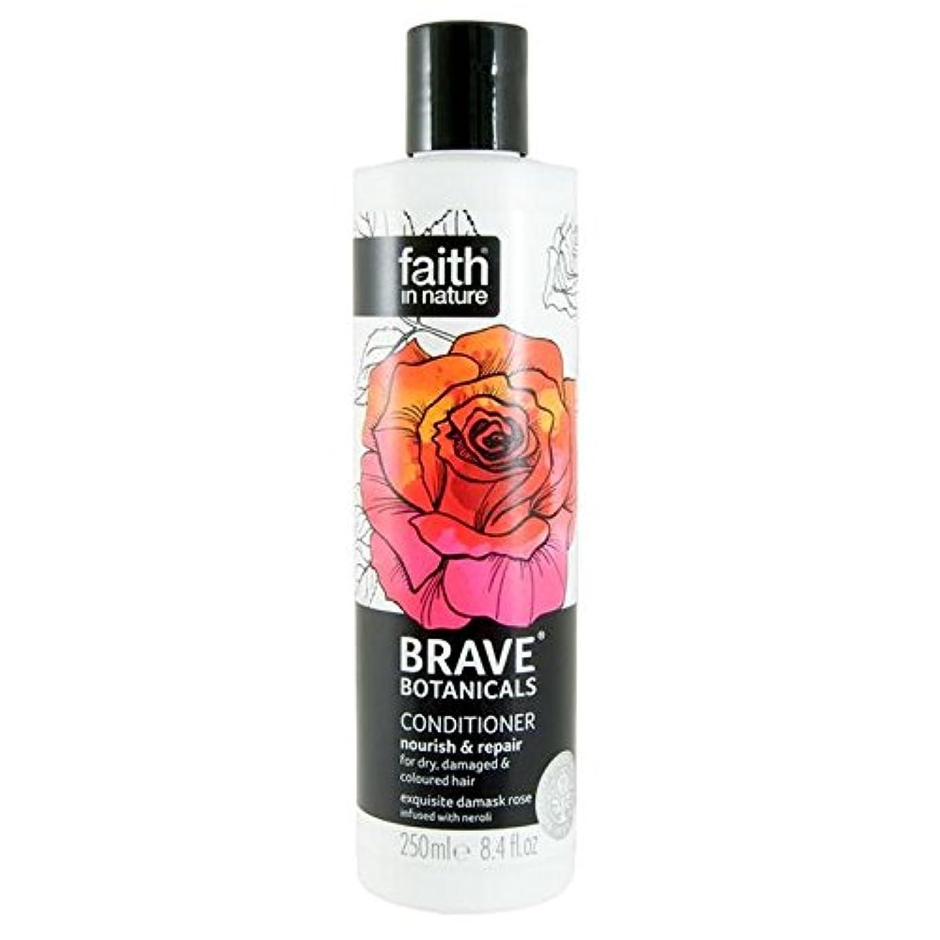 温度手つかずの無臭Brave Botanicals Rose & Neroli Nourish & Repair Conditioner 250ml (Pack of 4) - (Faith In Nature) 勇敢な植物は、ローズ&ネロリ...