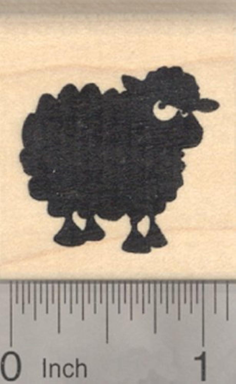 Black Sheep Rubber Stamp, Lamb Silhouette