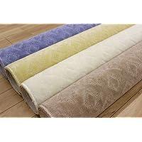 12畳 カーペット 絨毯 じゅうたん 日本製 パーソル/ブルー 12帖 352x522cm