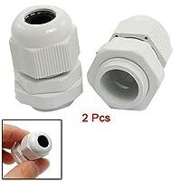 2本防水PG11白いプラスチックケーブルグランドコネクタ