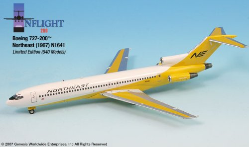 1: 200 インフライト Northeast ボーイング 727-200 Yellowbird (並行輸入)