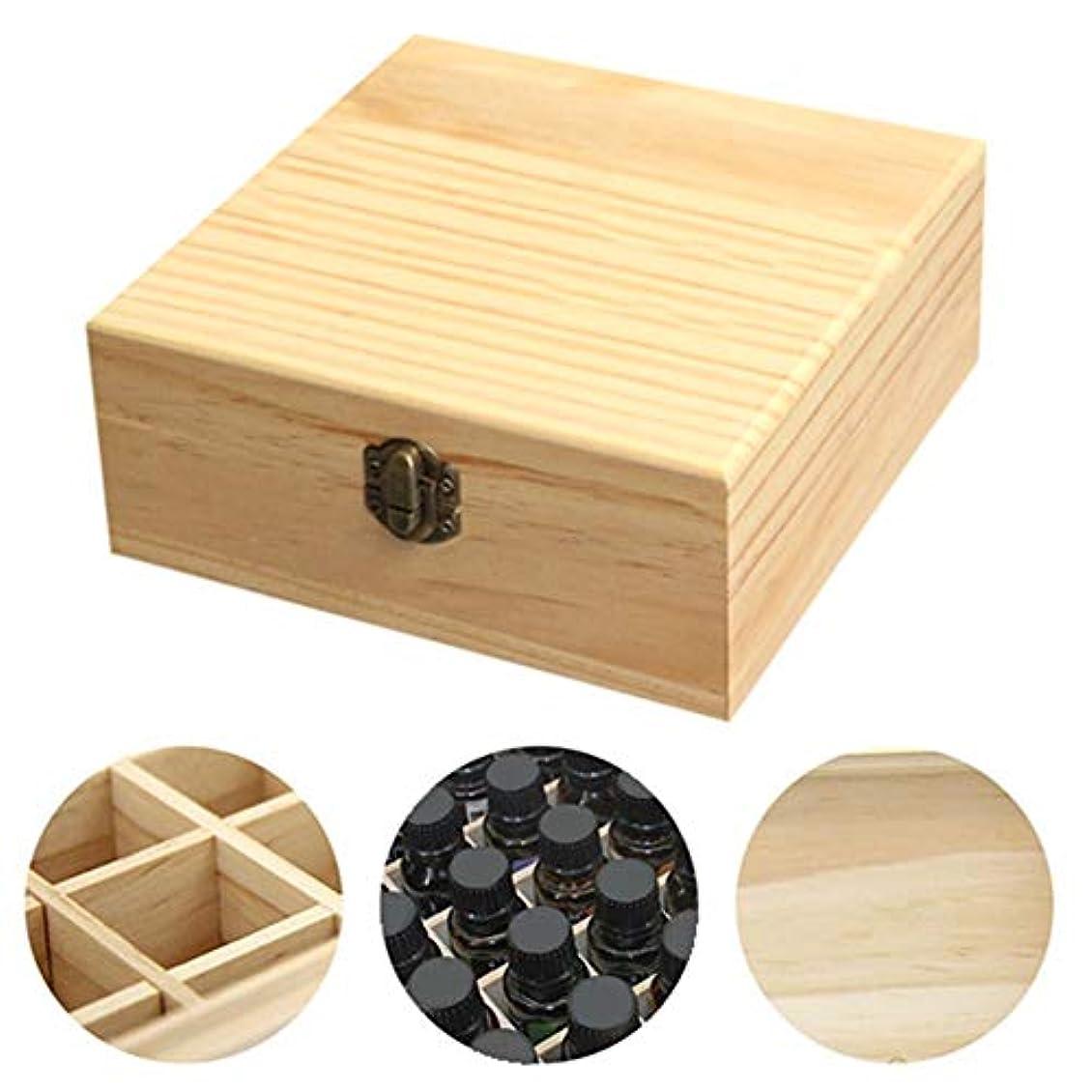 メッセンジャー交響曲尽きるclouday エッセンシャルオイル収納ボックス 自然木製 エッセンシャルオイルオイル 収納 ボックス 香水収納ケース アロマオイル収納ボックス 25本用 approving