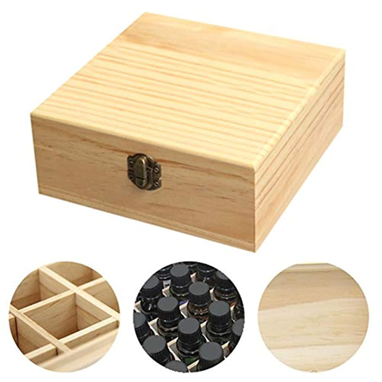 惨めな露骨な飢饉clouday エッセンシャルオイル収納ボックス 自然木製 エッセンシャルオイルオイル 収納 ボックス 香水収納ケース アロマオイル収納ボックス 25本用 approving