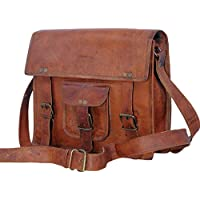 "Genuine 11"" Mens Leather Small Messenger Bag Satchel Passport Man Bag Ipad case Tab Tablet Bag"