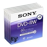 SONY DVD-RW, 2.8Go, 8cm, 60min, Pack 5 , mini dvd cam?scope, 2.8 go sony dvd rw
