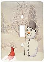 3drose LLC lsp _ 18581_ 1Cardinalと雪だるま冬単一の切り替えスイッチ